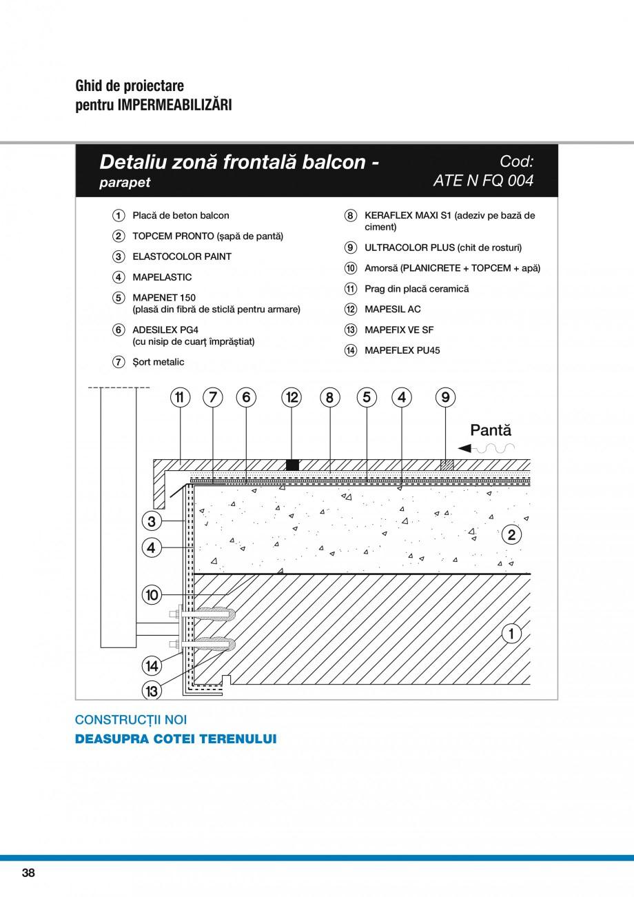 Pagina 40 - Ghid proiectare impermeabilizari solutii  MAPEI Catalog, brosura Romana