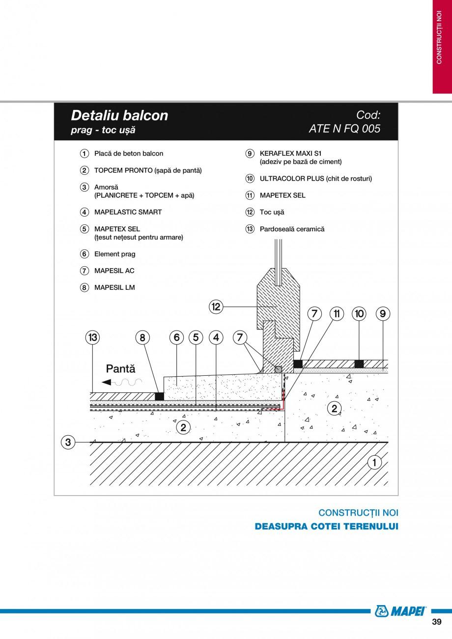 Pagina 41 - Ghid proiectare impermeabilizari solutii  MAPEI Catalog, brosura Romana