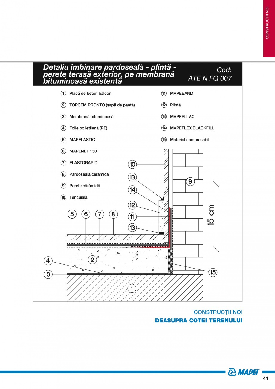 Pagina 43 - Ghid proiectare impermeabilizari solutii  MAPEI Catalog, brosura Romana