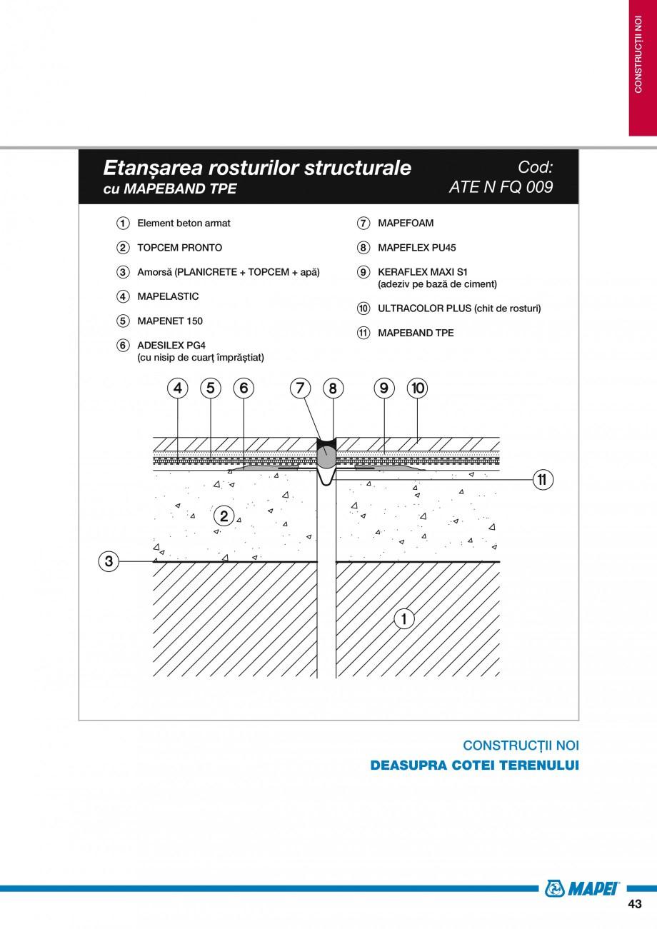 Pagina 45 - Ghid proiectare impermeabilizari solutii  MAPEI Catalog, brosura Romana