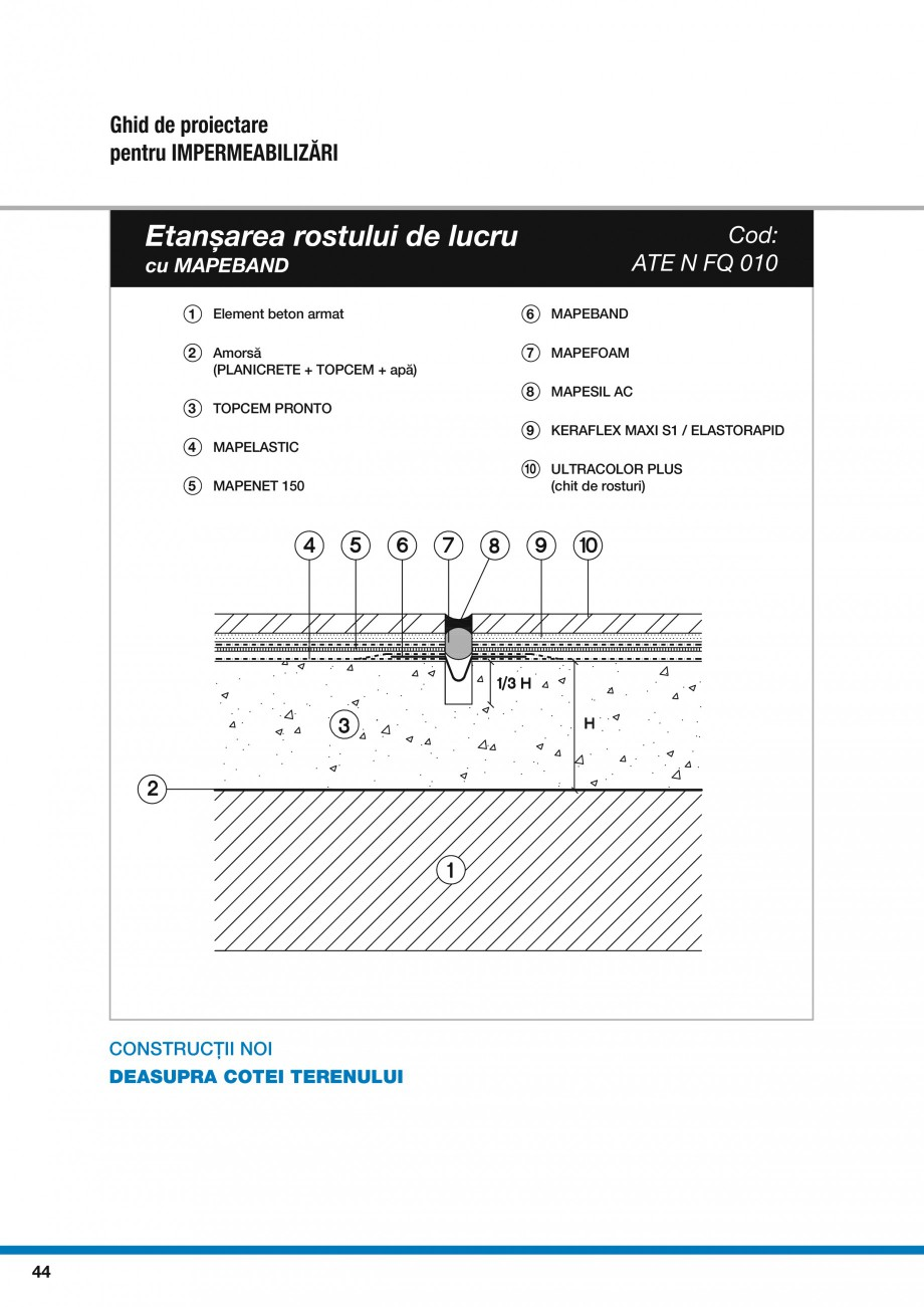 Pagina 46 - Ghid proiectare impermeabilizari solutii  MAPEI Catalog, brosura Romana
