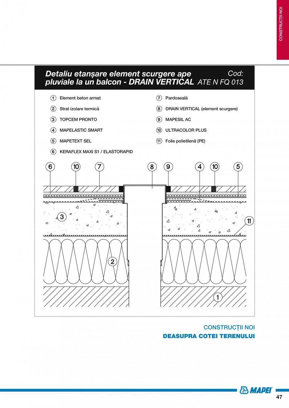 Pagina 49 - Ghid proiectare impermeabilizari solutii  MAPEI Catalog, brosura Romana