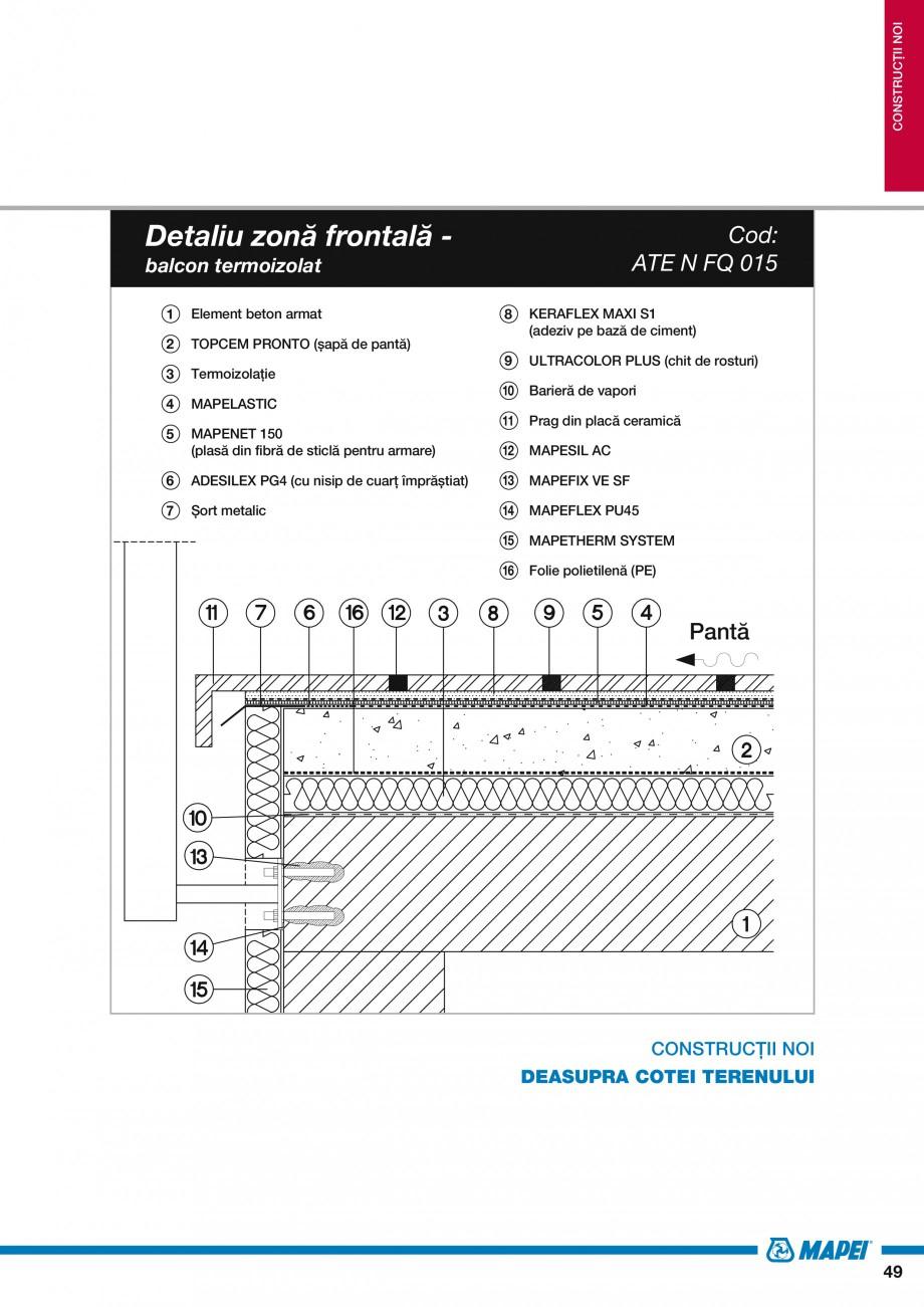 Pagina 51 - Ghid proiectare impermeabilizari solutii  MAPEI Catalog, brosura Romana