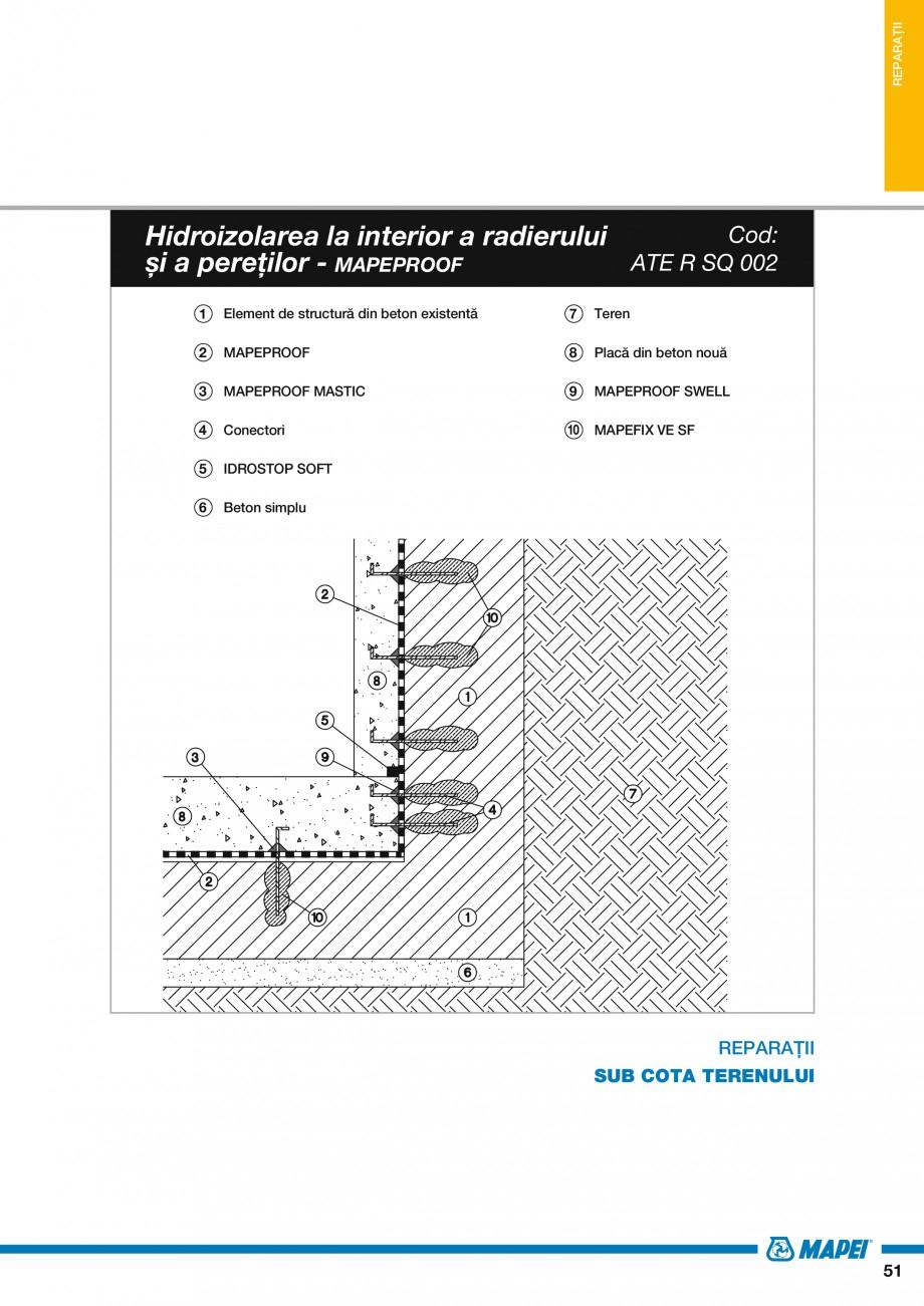 Pagina 53 - Ghid proiectare impermeabilizari solutii  MAPEI Catalog, brosura Romana