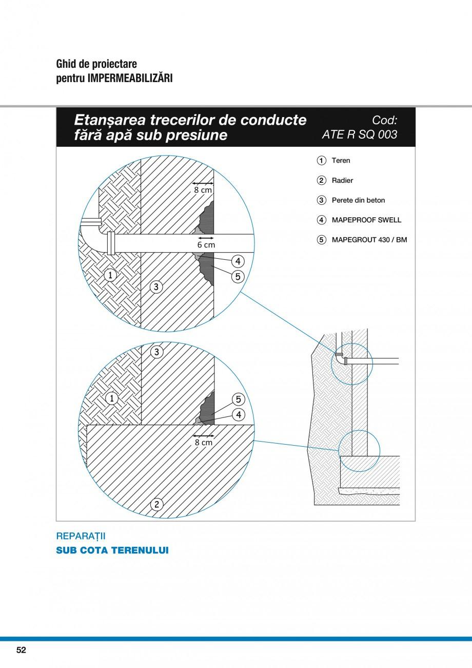 Pagina 54 - Ghid proiectare impermeabilizari solutii  MAPEI Catalog, brosura Romana