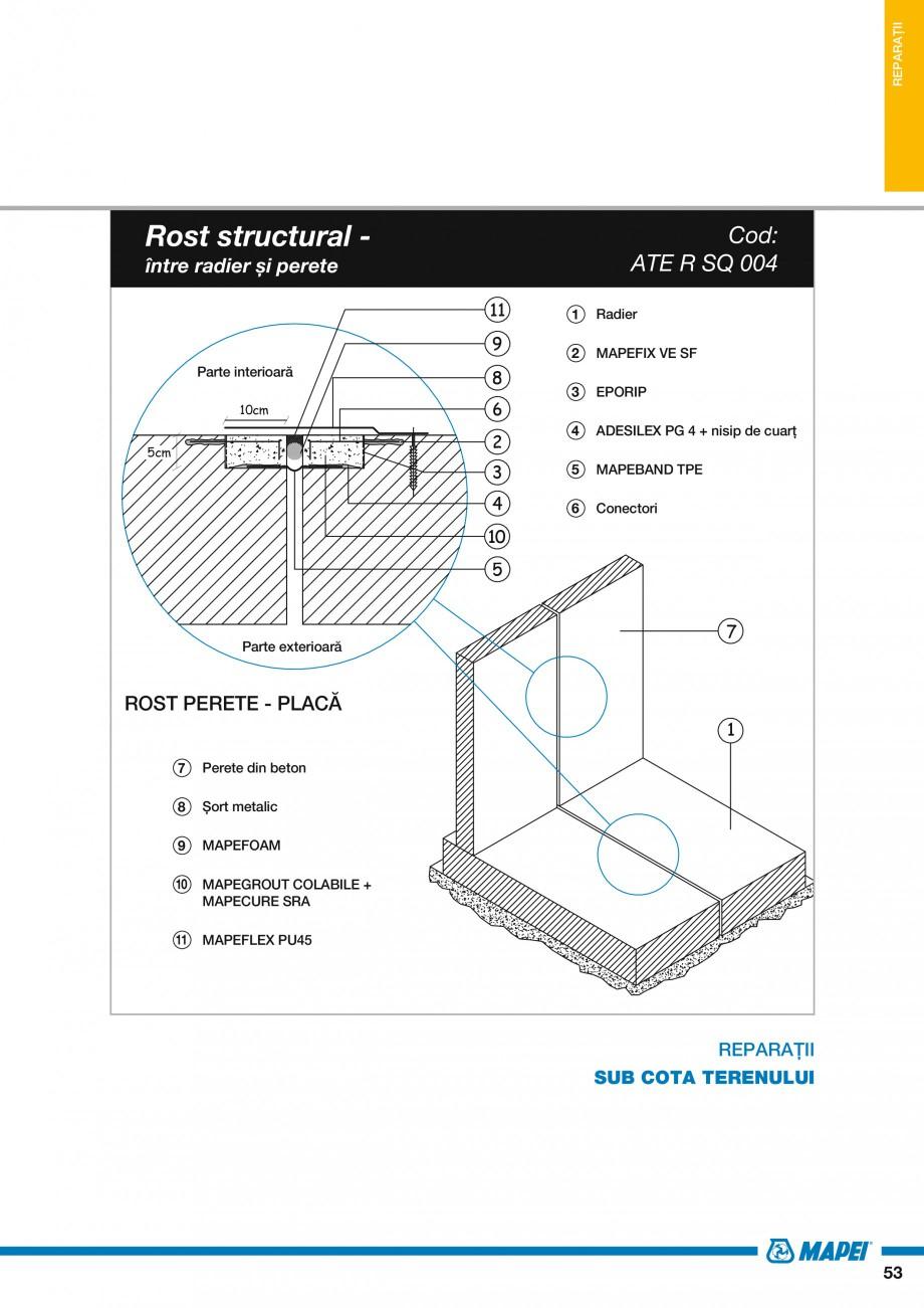 Pagina 55 - Ghid proiectare impermeabilizari solutii  MAPEI Catalog, brosura Romana