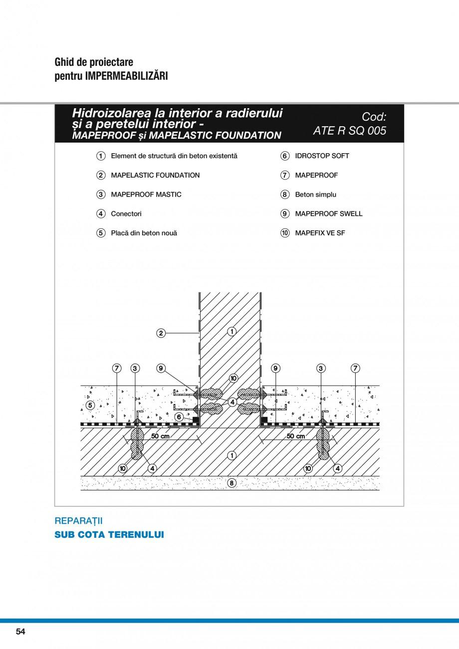 Pagina 56 - Ghid proiectare impermeabilizari solutii  MAPEI Catalog, brosura Romana