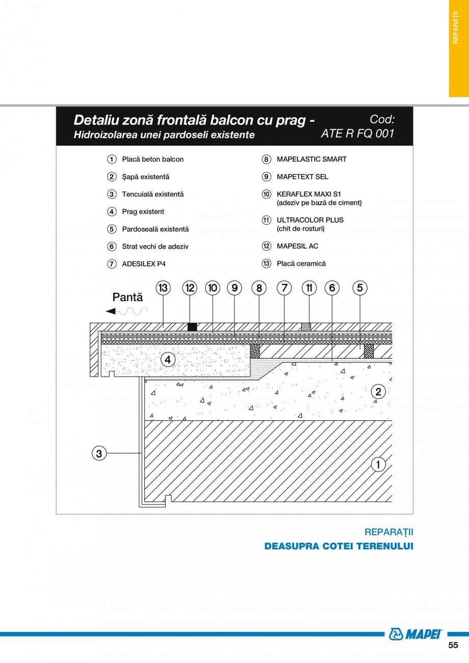 Pagina 57 - Ghid proiectare impermeabilizari solutii  MAPEI Catalog, brosura Romana