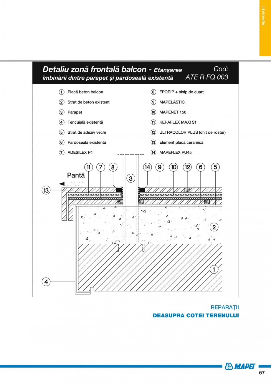 Pagina 59 - Ghid proiectare impermeabilizari solutii  MAPEI Catalog, brosura Romana