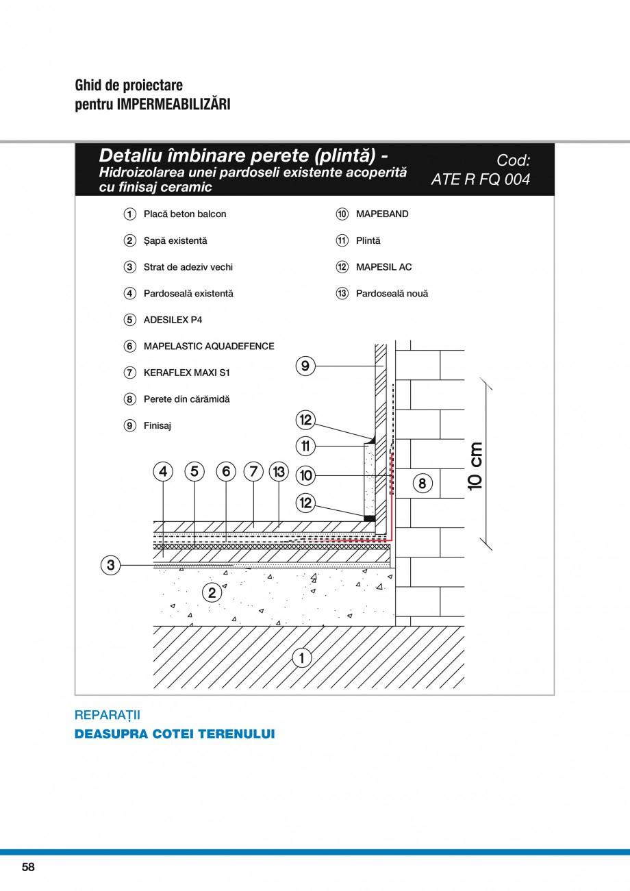 Pagina 60 - Ghid proiectare impermeabilizari solutii  MAPEI Catalog, brosura Romana