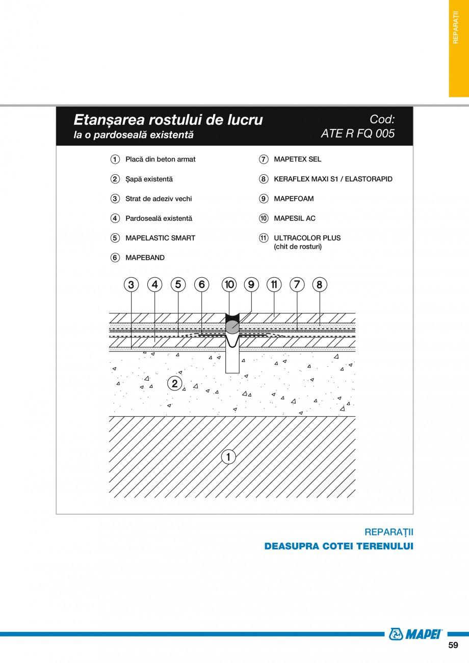 Pagina 61 - Ghid proiectare impermeabilizari solutii  MAPEI Catalog, brosura Romana