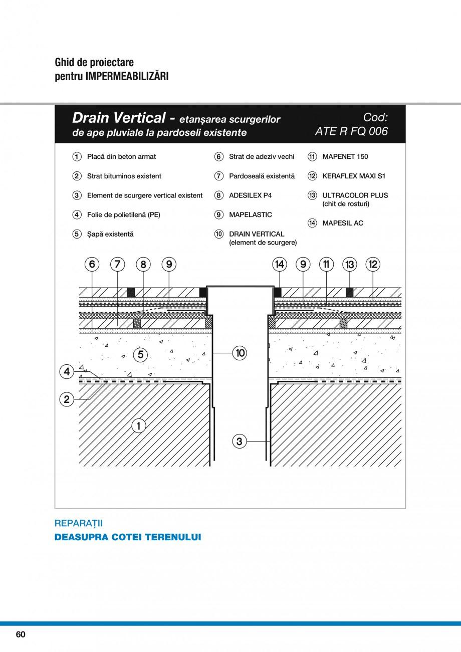 Pagina 62 - Ghid proiectare impermeabilizari solutii  MAPEI Catalog, brosura Romana