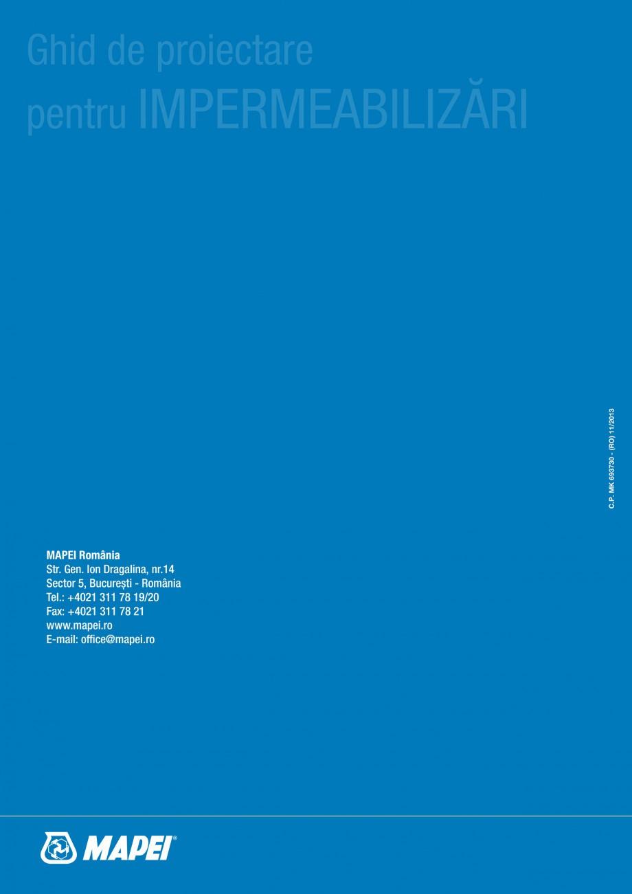 Pagina 66 - Ghid proiectare impermeabilizari solutii  MAPEI Catalog, brosura Romana