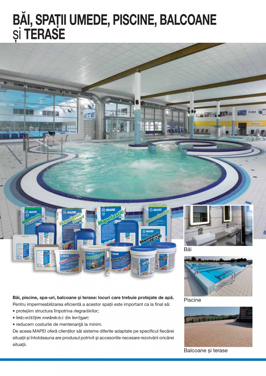 Pagina 6 - Ghid selectie produse pentru impermeabilizari  MAPEI Catalog, brosura Romana are trebuie ...