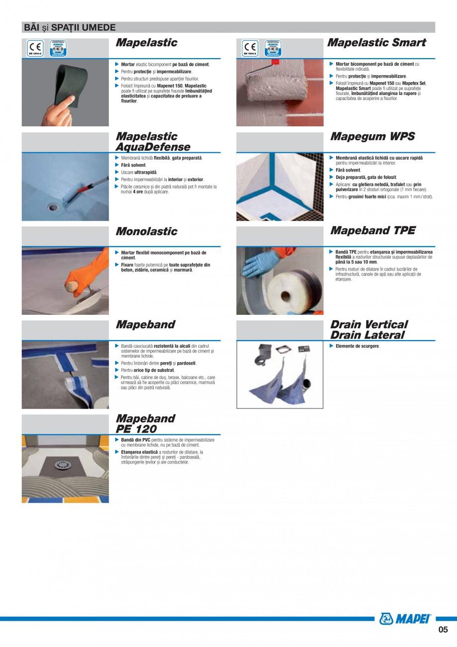 Pagina 7 - Ghid selectie produse pentru impermeabilizari  MAPEI Catalog, brosura Romana cu Mapenet...