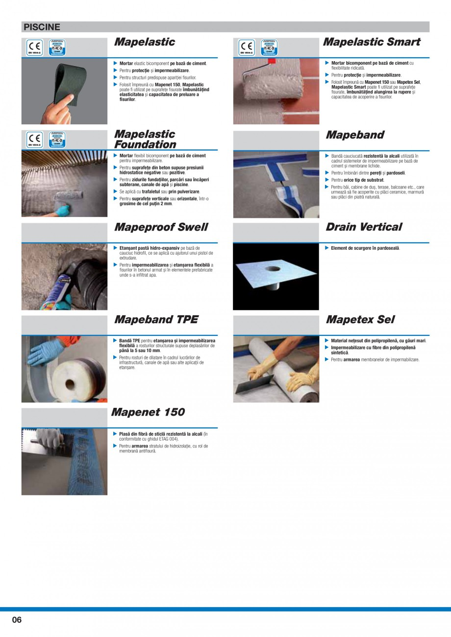 Pagina 8 - Ghid selectie produse pentru impermeabilizari  MAPEI Catalog, brosura Romana  ▶...