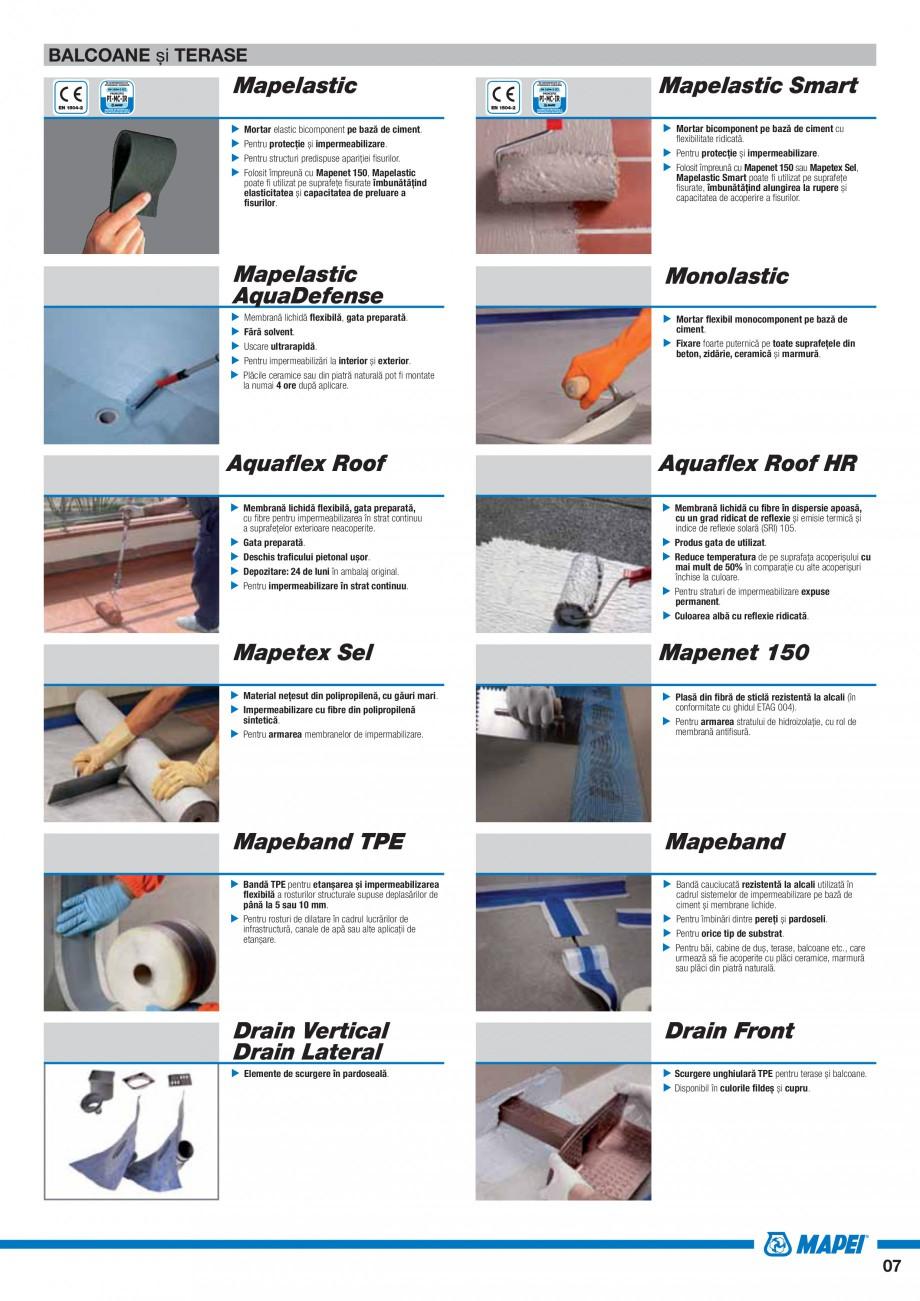 Pagina 9 - Ghid selectie produse pentru impermeabilizari  MAPEI Catalog, brosura Romana ent pe bază...