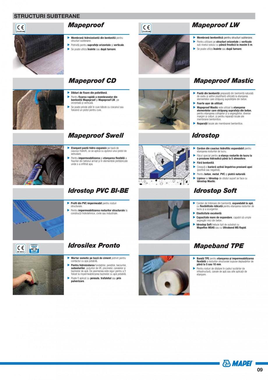 Pagina 11 - Ghid selectie produse pentru impermeabilizari  MAPEI Catalog, brosura Romana ații de...