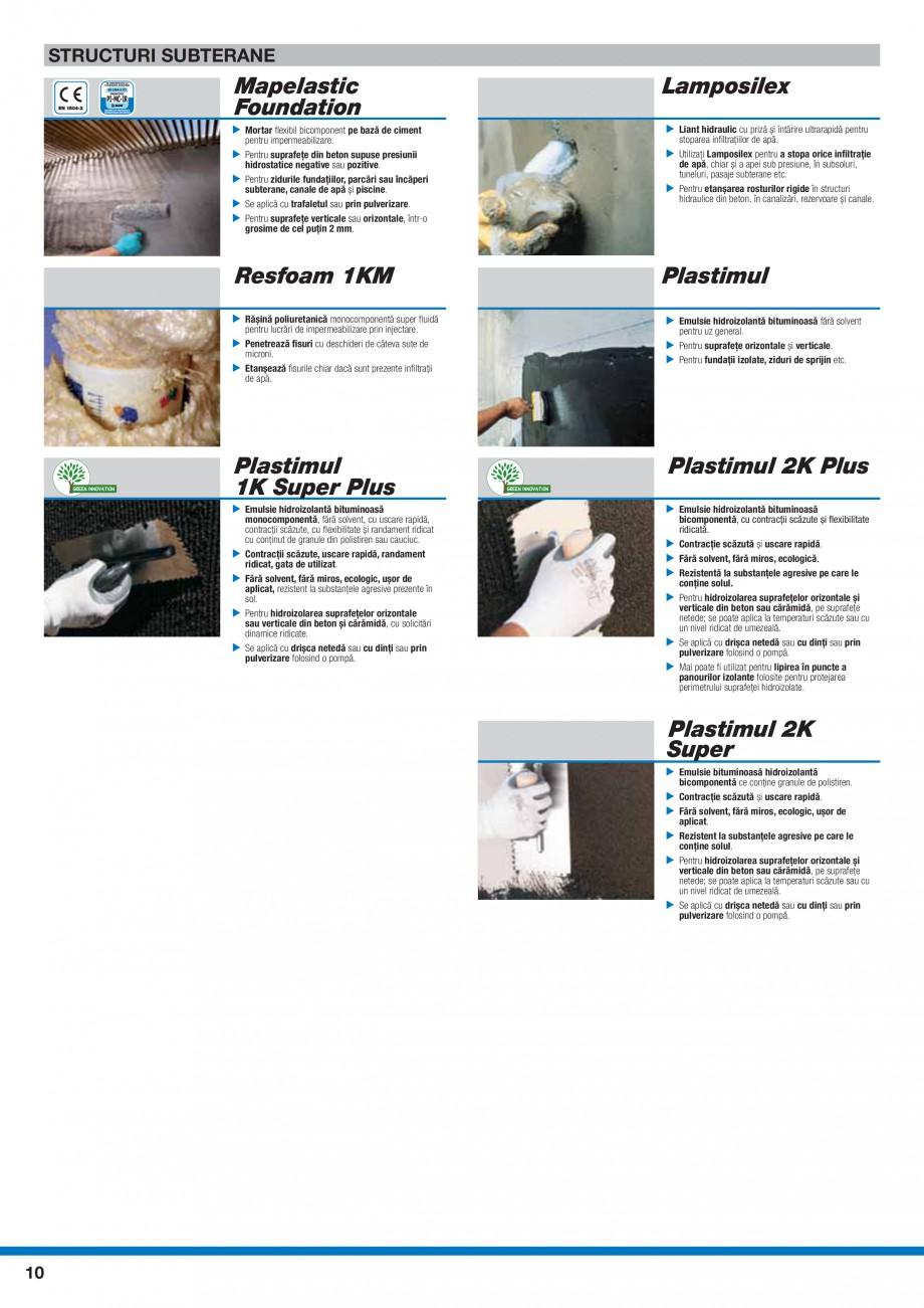 Pagina 12 - Ghid selectie produse pentru impermeabilizari  MAPEI Catalog, brosura Romana...
