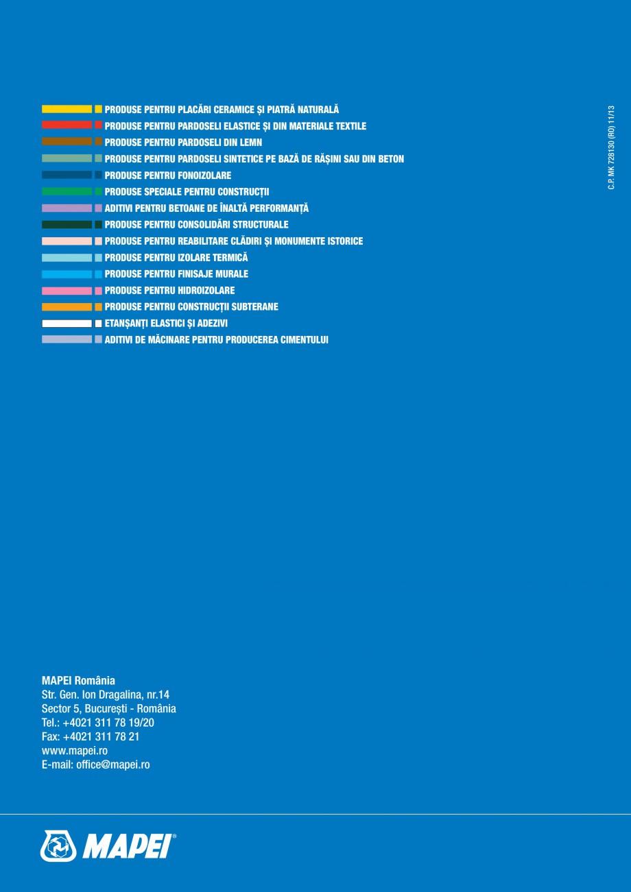 Pagina 16 - Ghid selectie produse pentru impermeabilizari  MAPEI Catalog, brosura Romana turală de ...