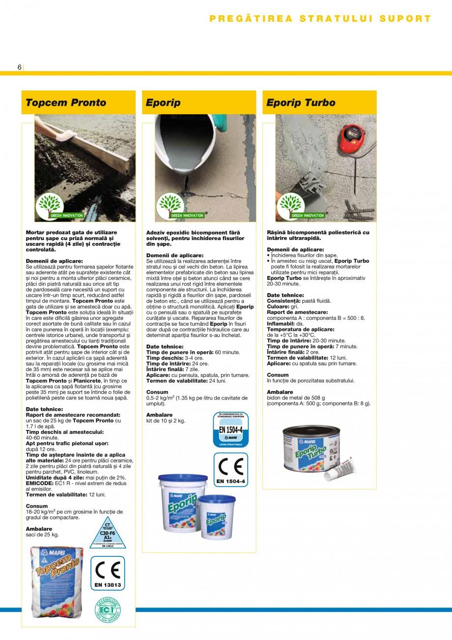 Pagina 8 - Produse pentru montarea placilor ceramice si a placilor din piatra naturala MAPEI MAPEGUM...
