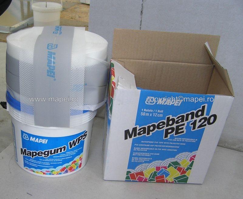 Mapeband PE 120_1 si Mapegum WPS_sistem hidroizolare bai MAPEI - Poza 2