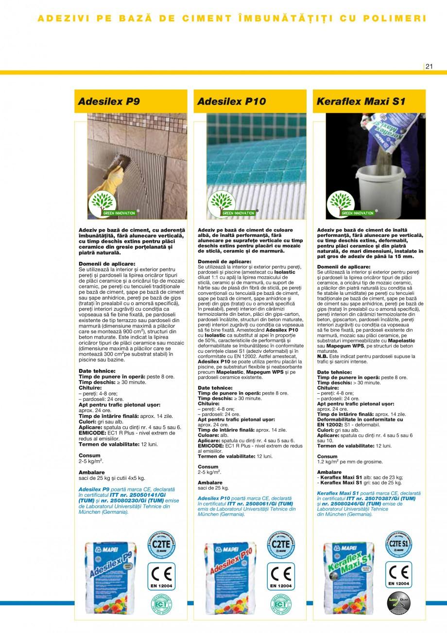 Pagina 23 - Produse pentru montarea placilor ceramice si a placilor din piatra naturala MAPEI...