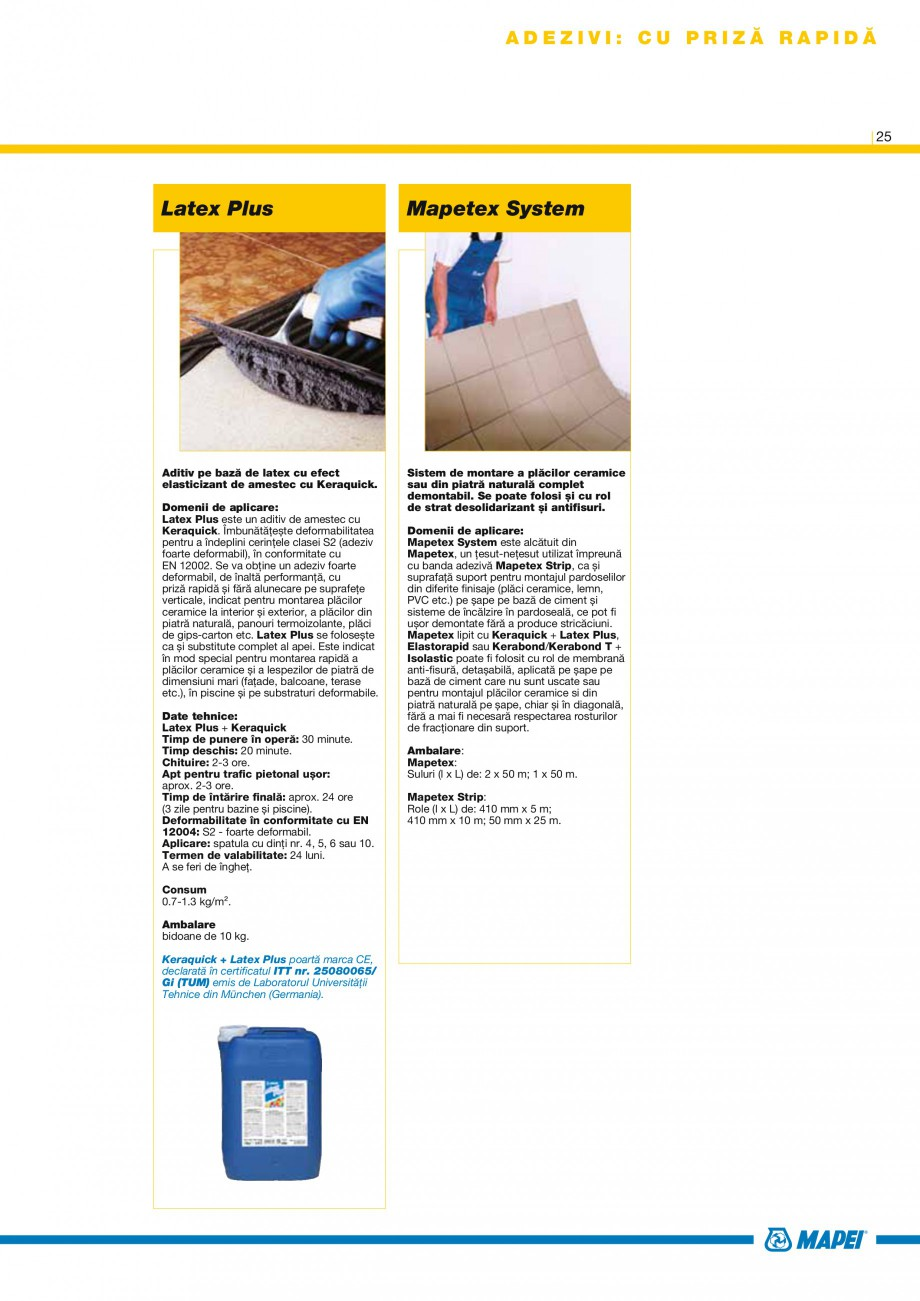 Pagina 27 - Produse pentru montarea placilor ceramice si a placilor din piatra naturala MAPEI...