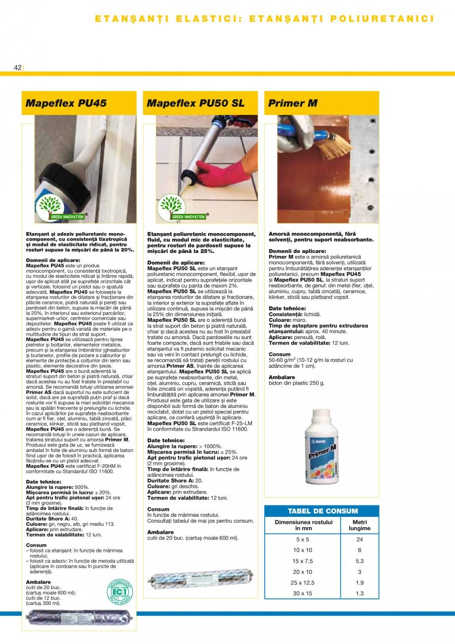 Pagina 44 - Produse pentru montarea placilor ceramice si a placilor din piatra naturala MAPEI...
