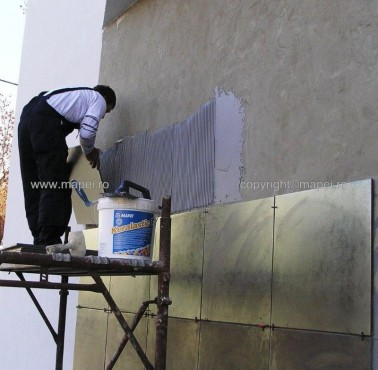 Executie, montaj Keralastic T_5 placare exterioara pereti MAPEI - Poza 5