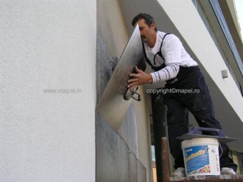 Executie, montaj Keralastic T_7 placare cu gresie fatada MAPEI - Poza 7