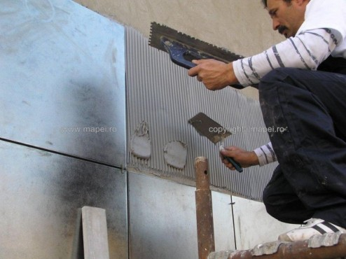 Executie, montaj Keralastic T_9 placari fatade MAPEI - Poza 9