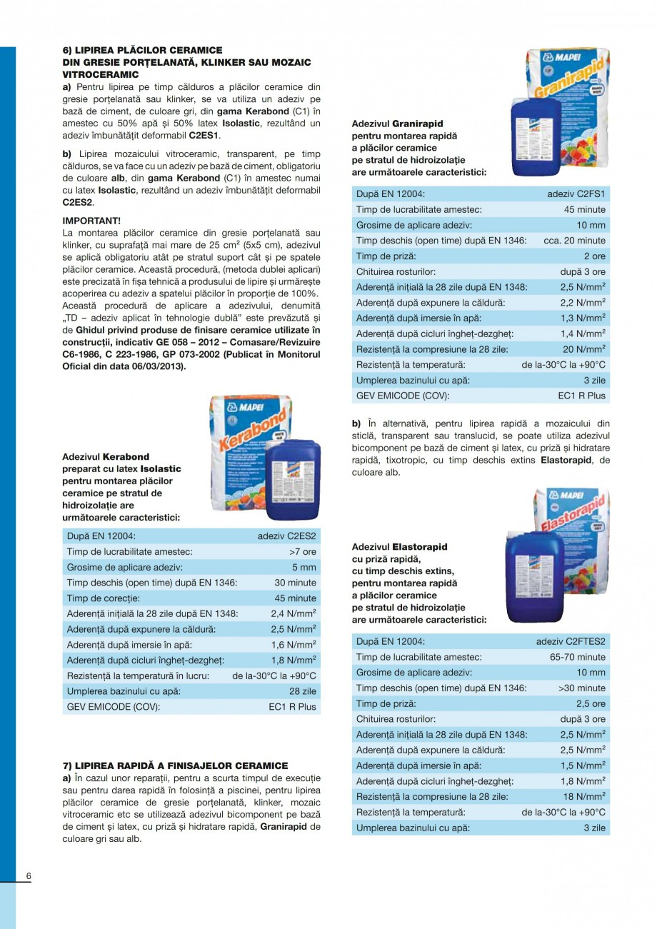 Pagina 6 - Ghid constructia piscinelor din beton armat MAPEI KERACOLOR GG, KERACOLOR FF Catalog,...
