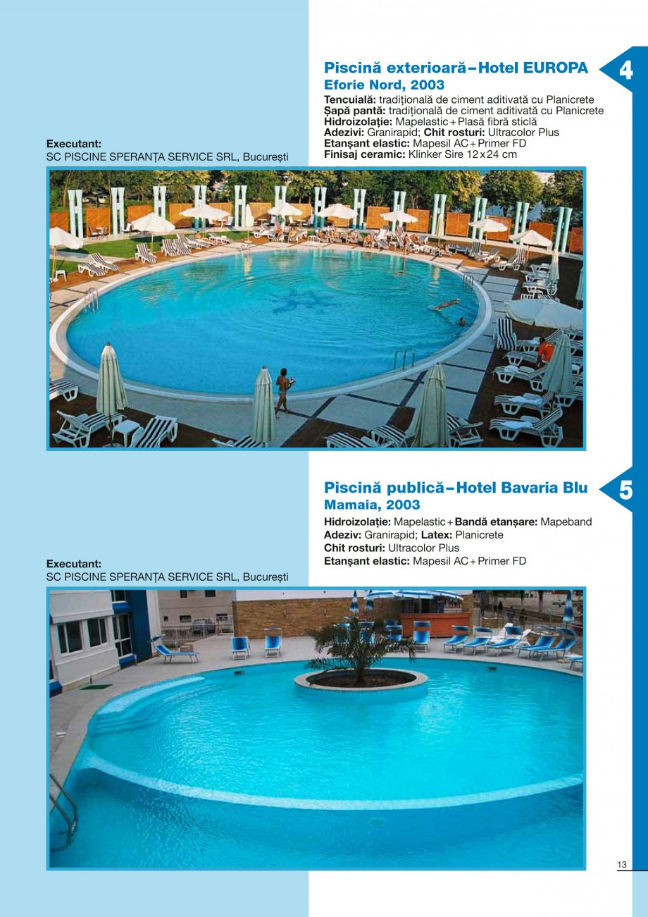 Pagina 13 - Ghid constructia piscinelor din beton armat MAPEI KERACOLOR GG, KERACOLOR FF Catalog,...