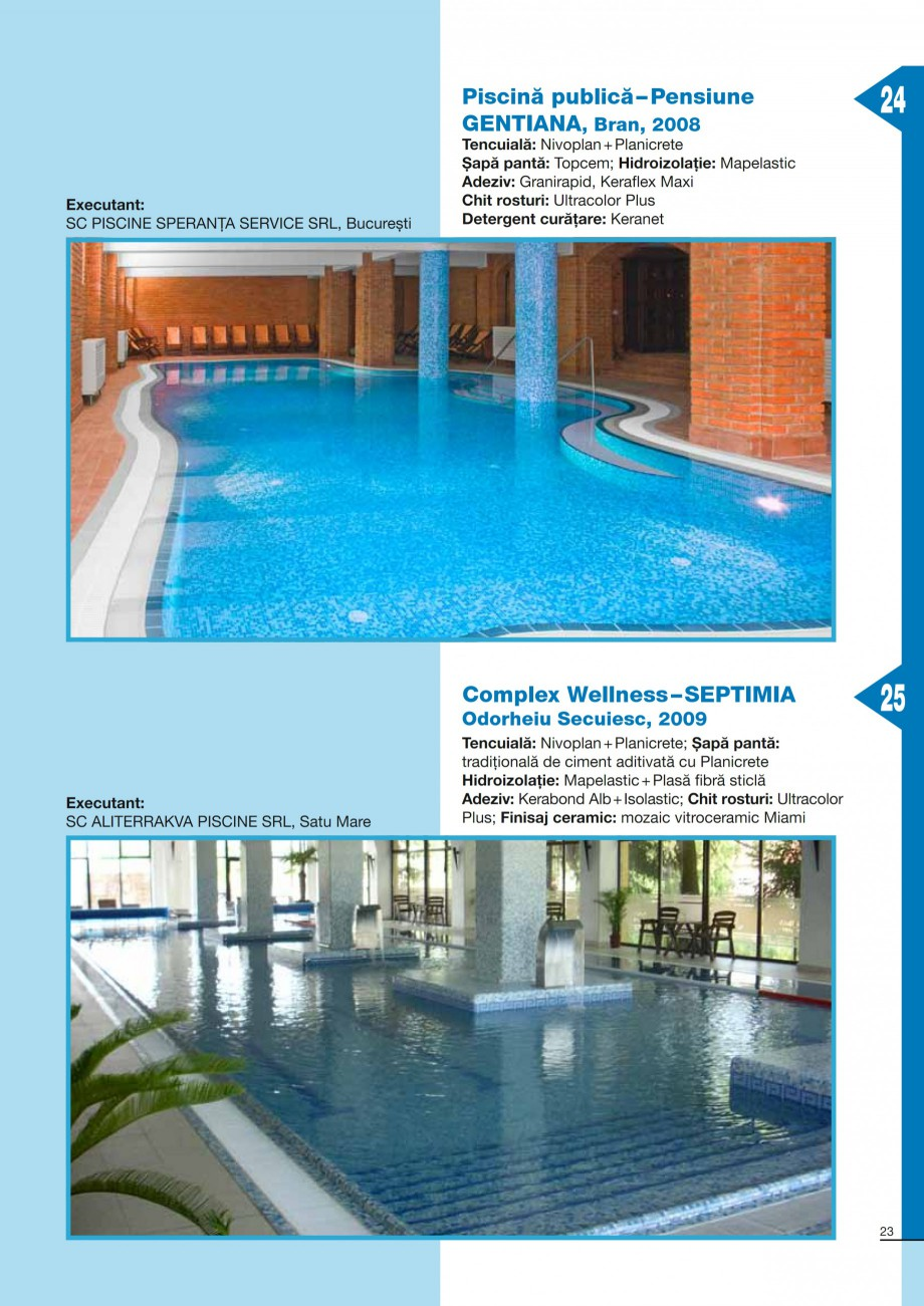 Pagina 23 - Ghid constructia piscinelor din beton armat MAPEI KERACOLOR GG, KERACOLOR FF Catalog,...