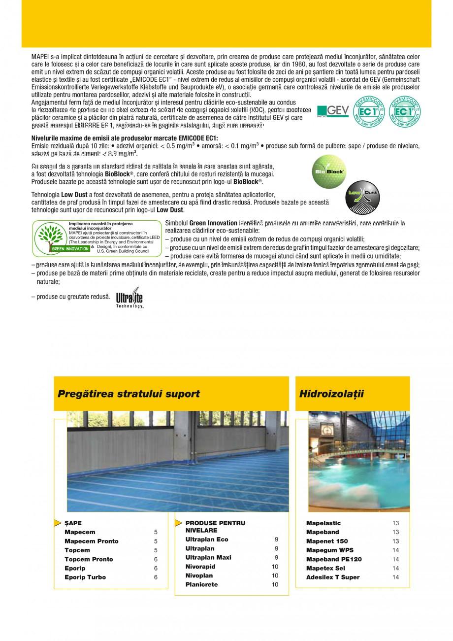 Pagina 3 - Produse pentru montarea placilor ceramice si a placilor din piatra naturala MAPEI...