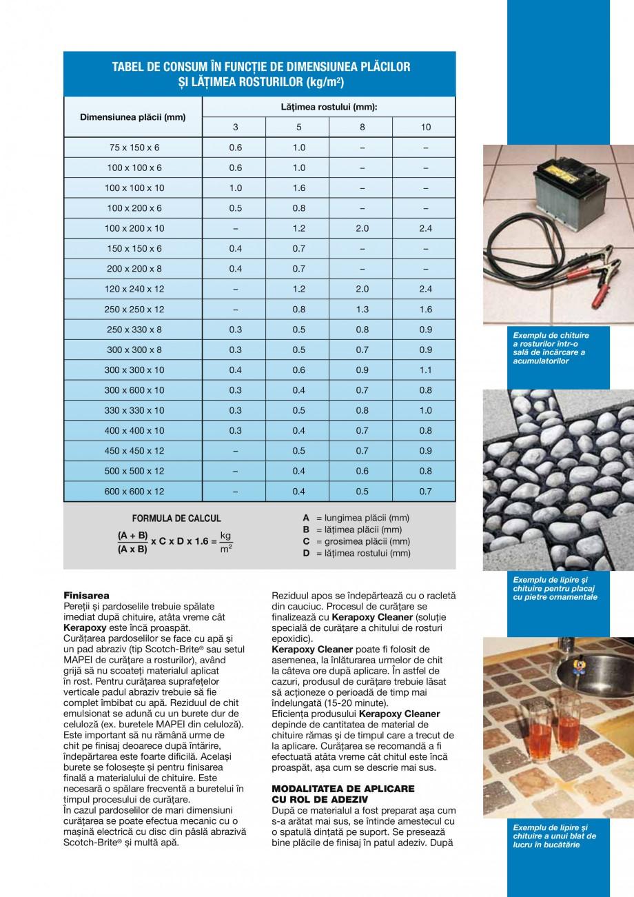Pagina 5 - Mortar epoxidic bicomponent, rezistent la acizi, pentru rosturi cu latime de minim 3mm,...