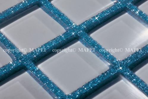 Exemple de utilizare 6. mozaic vitroceramic chit rosturi epoxidic si fulgi colorati MAPEI - Poza 7