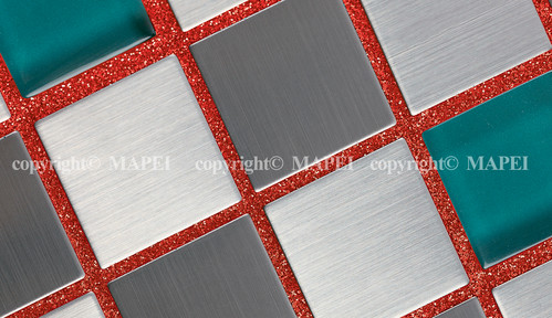 Exemple de utilizare 7. mozaic mixt vitroceramic metal MAPEI - Poza 8