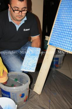 Executie, montaj 20. chit de rosturi epoxidic emulsionat cu pad abraziv Mapei si apa MAPEI - Poza 20