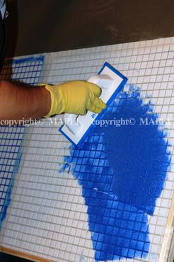 Executie, montaj 14. mozaic sticla chituire rosturi MAPEI - Poza 14