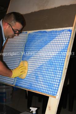 Executie, montaj 23. chituire finisare mozaic MAPEI - Poza 23