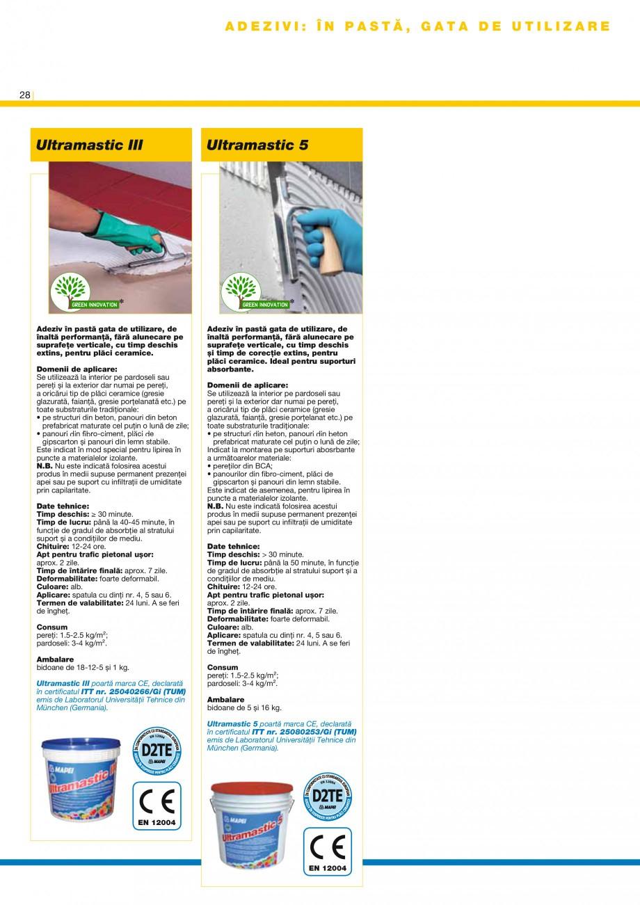 Pagina 3 - Produse pentru montarea placilor ceramice si a placilor din piatra naturala MAPEI Catalog...