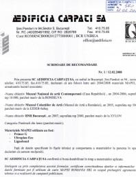 Referinte Mapei Romania 2004 - Aedificia Carpati