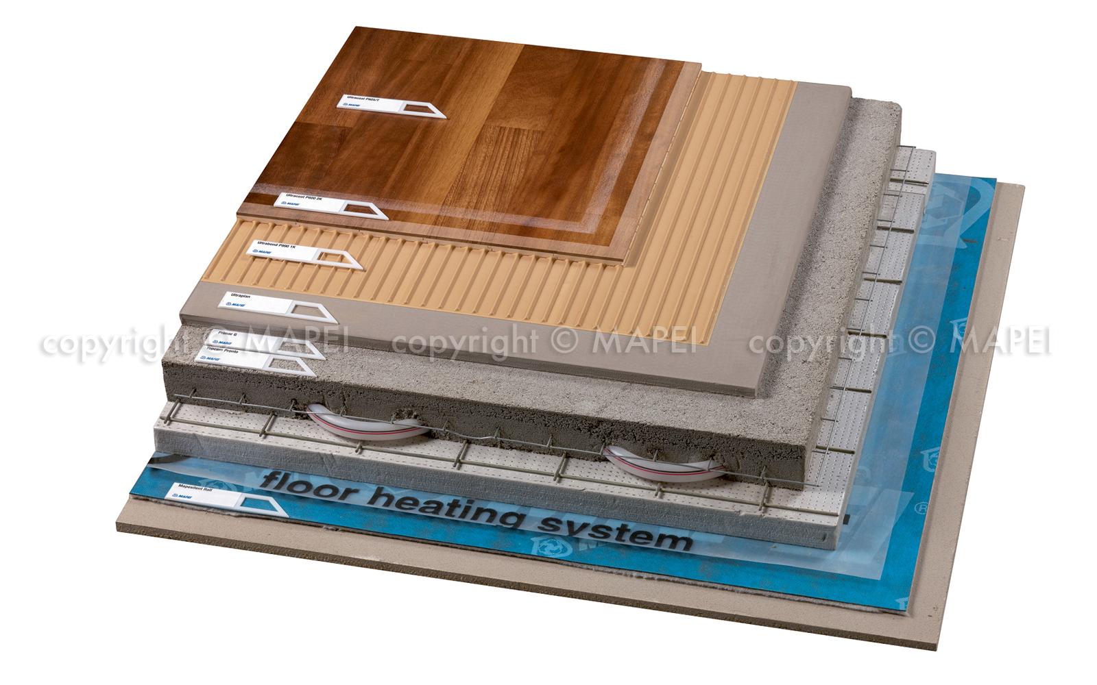 Sistem montaj parchet pe sapa cu sistem de incalzire MAPEI - Poza 4