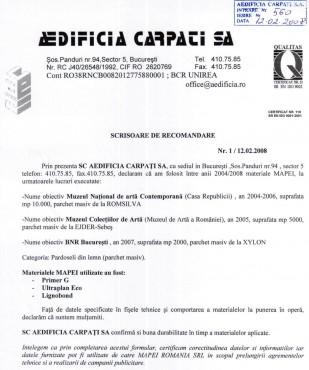 Lucrari, proiecte 11Referinte-Mapei-Romania-2004-Aedificia-Carpati MAPEI - Poza 11