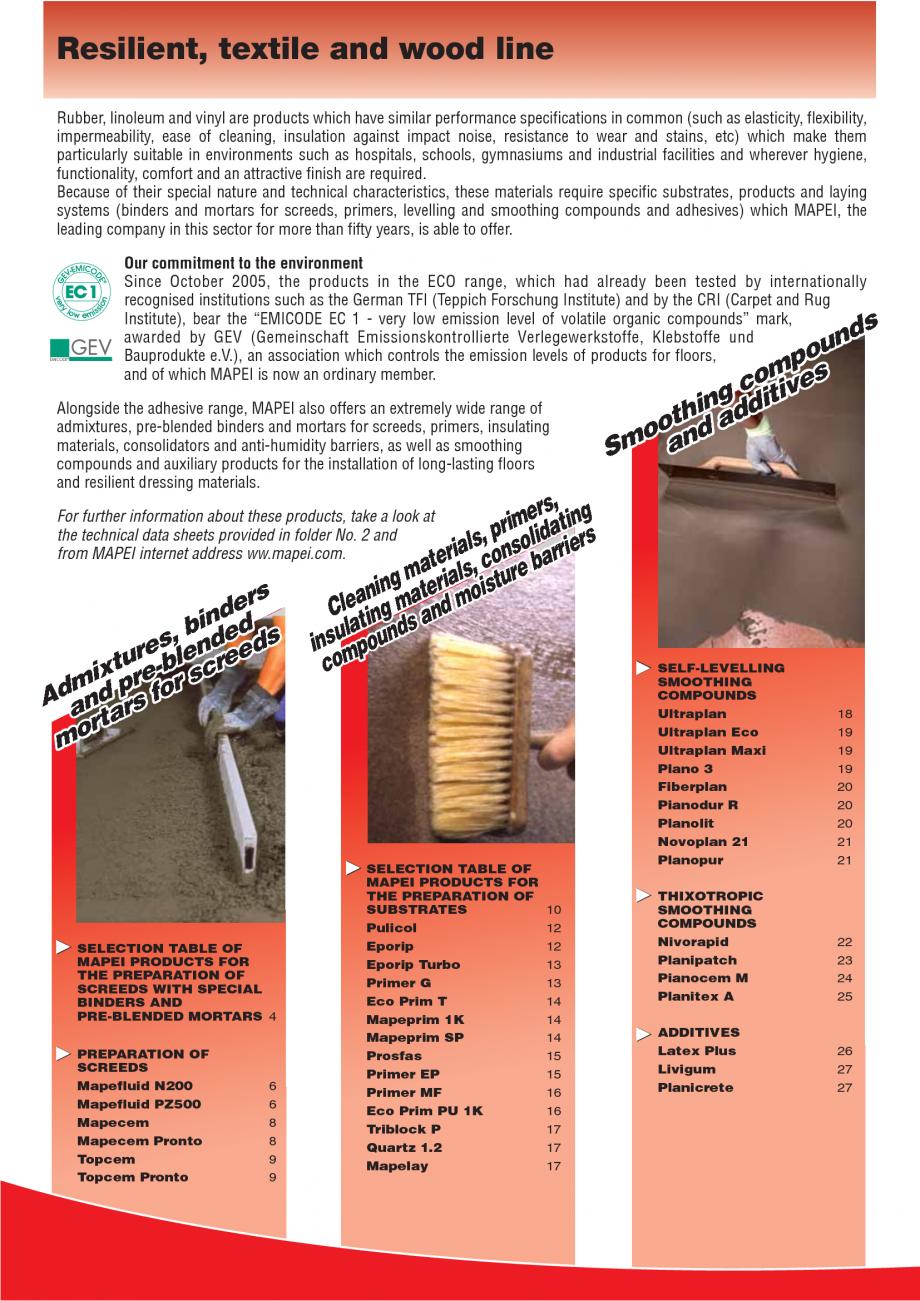 Pagina 2 - Produse pentru montarea imbracamintilor vinilice, textile si cauciuc pentru pereti si...