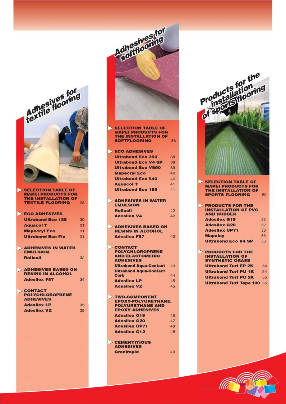 Pagina 3 - Produse pentru montarea imbracamintilor vinilice, textile si cauciuc pentru pereti si...