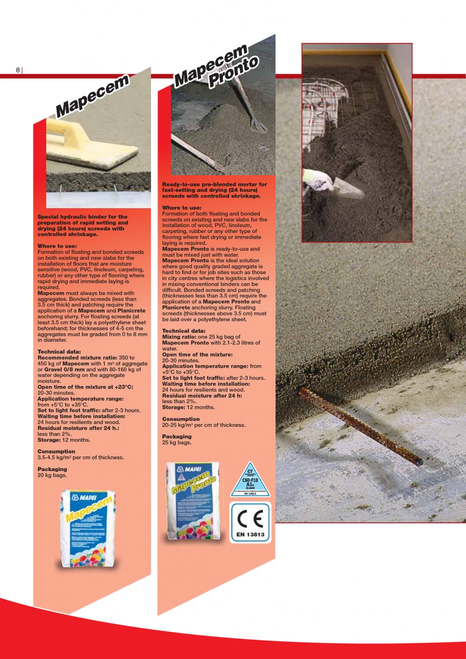 Pagina 10 - Produse pentru montarea imbracamintilor vinilice, textile si cauciuc pentru pereti si...