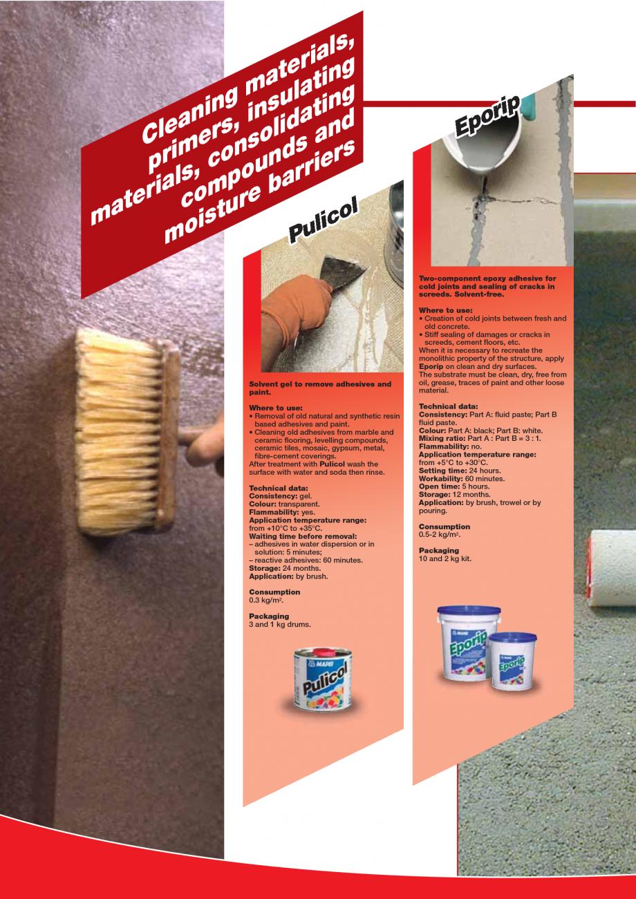 Pagina 14 - Produse pentru montarea imbracamintilor vinilice, textile si cauciuc pentru pereti si...